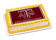 Texas A&M University 1 Edible Birthday Cake Topper OR Cupcake Topper, Decor