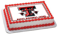 Texas Tech University 1 Edible Birthday Cake Topper OR Cupcake Topper, Decor
