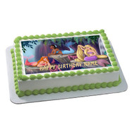 The Little Mermaid Edible Birthday Cake Topper OR Cupcake Topper, Decor