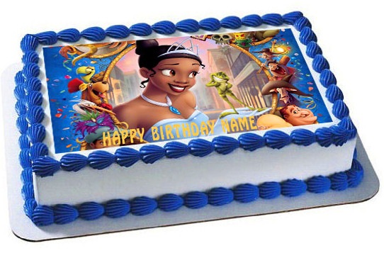 Admirable The Princess And The Frog Edible Birthday Cake Topper Funny Birthday Cards Online Alyptdamsfinfo