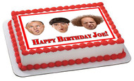 The Three Stooges Edible Birthday Cake Topper OR Cupcake Topper, Decor