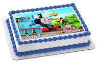 Thomas Train 1 Edible Birthday Cake Topper OR Cupcake Topper, Decor