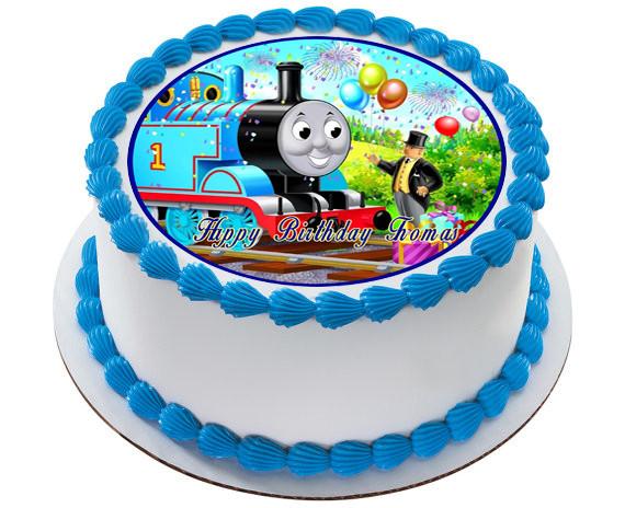 Marvelous Thomas Train 1 Edible Birthday Cake Topper Funny Birthday Cards Online Alyptdamsfinfo