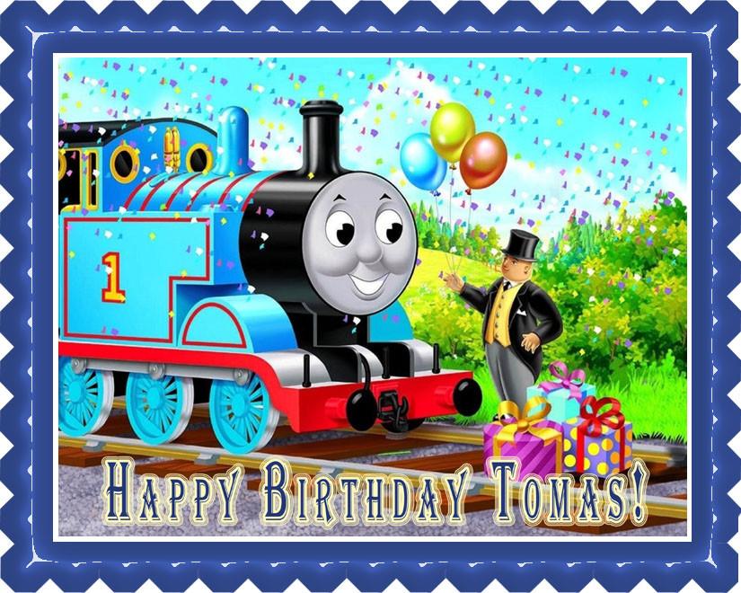 Pleasing Thomas Train 1 Edible Birthday Cake Topper Funny Birthday Cards Online Inifofree Goldxyz