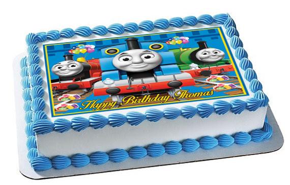 Phenomenal Thomas Train 2 Edible Birthday Cake Topper Funny Birthday Cards Online Eattedamsfinfo