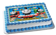 Thomas Train 2 Edible Birthday Cake Topper OR Cupcake Topper, Decor