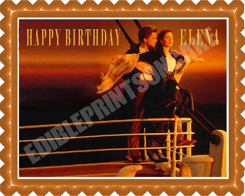Titanic Edible Birthday Cake Topper OR Cupcake Decor Price 795 Image 1