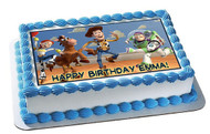 Toy Story 1 Edible Birthday Cake Topper OR Cupcake Topper, Decor
