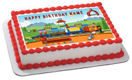 Train Edible Birthday Cake Topper OR Cupcake Topper, Decor