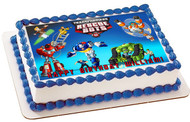 Transformers Rescue Bots 1 Edible Birthday Cake Topper OR Cupcake Topper, Decor