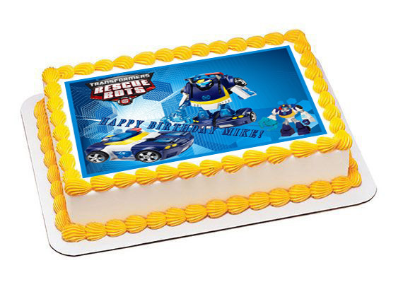 Swell Transformers Rescue Bots 5 Edible Birthday Cake Topper Funny Birthday Cards Online Sheoxdamsfinfo