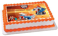 Transformers Rescue Bots 6 Edible Birthday Cake Topper OR Cupcake Topper, Decor