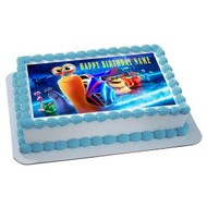 TURBO Edible Birthday Cake Topper OR Cupcake Topper, Decor