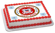 US Coast Guard Edible Birthday Cake Topper OR Cupcake Topper, Decor