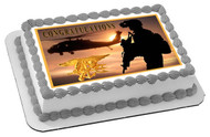 US Navy Seal Edible Birthday Cake Topper OR Cupcake Topper, Decor