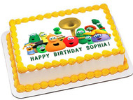 VEGGIE TALES 1 Edible Birthday Cake Topper OR Cupcake Topper, Decor