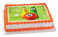 VEGGIE TALES 5 Edible Birthday Cake Topper OR Cupcake Topper, Decor