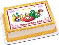 VEGGIE TALES 6 Edible Birthday Cake Topper OR Cupcake Decor