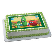 VEGGIE TALES 7 Edible Birthday Cake Topper OR Cupcake Topper, Decor