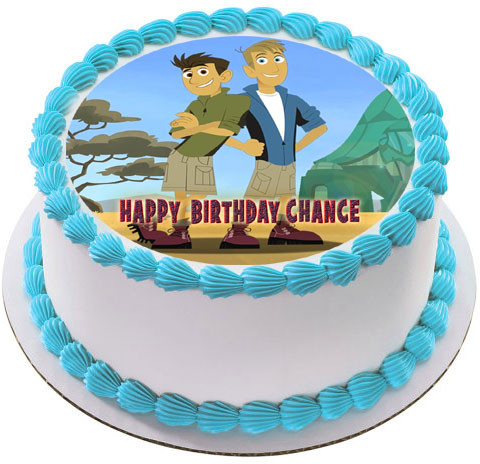 Astonishing Wild Kratts Edible Birthday Cake Topper Personalised Birthday Cards Akebfashionlily Jamesorg