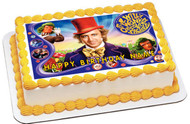Willy Wonka Edible Birthday Cake Topper OR Cupcake Topper, Decor