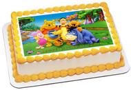 Winnie Pooh 1 Edible Birthday Cake Topper OR Cupcake Topper, Decor