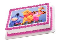 Winnie Pooh 2 Edible Birthday Cake Topper OR Cupcake Topper, Decor