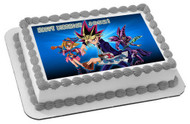 YU-GI-OH 2 Edible Birthday Cake Topper OR Cupcake Topper, Decor