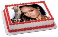 Rihanna Edible Birthday Cake Topper OR Cupcake Topper, Decor