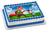 Zootopia 2 Edible Birthday Cake Topper OR Cupcake Topper, Decor