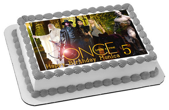 Once Upon A Time Season 5 Edible Birthday Cake Topper