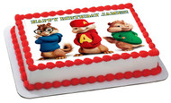 ALVIN AND THE CHIPMUNKS ROAD CHIP (Nr2) - Edible Cake Topper OR Cupcake Topper