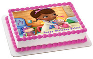 Doc McStuffins 2 Edible Birthday Cake Topper OR Cupcake Topper, Decor