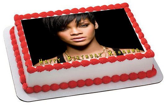 Astonishing Rihanna 2 Edible Birthday Cake Topper Funny Birthday Cards Online Fluifree Goldxyz