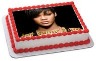Rihanna 2 Edible Birthday Cake Topper OR Cupcake Topper, Decor