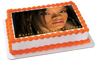 Rihanna 3 Edible Birthday Cake Topper OR Cupcake Topper, Decor