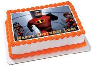 INCREDIBLES 2 Edible Birthday Cake Topper OR Cupcake Topper, Decor