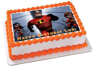 INCREDIBLES 2 Edible Birthday Cake Topper OR Cupcake Topper, Decor