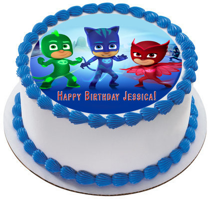 PJ Masks Edible Birthday Cake Topper