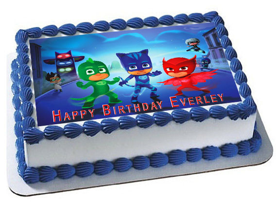 PJ Masks Edible Birthday Cake Topper