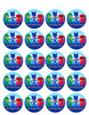 "Edible Cupcake Toppers - 1.8"" cupcake (20 pieces/sheet)"