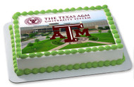 Texas A&M University 2 Edible Birthday Cake Topper OR Cupcake Topper, Decor