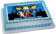 NINJAGO BLUE Ninja Blue Face Edible Birthday Cake Topper OR Cupcake Topper, Decor