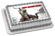 Assassin's Creed Edible Birthday Cake Topper OR Cupcake Topper, Decor