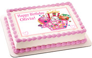 Shopkins 2 Edible Birthday Cake Topper OR Cupcake Topper, Decor