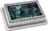 Halo 5 Guardians Edible Birthday Cake Topper OR Cupcake Topper, Decor