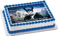 Maleficent 2 Edible Birthday Cake Topper OR Cupcake Topper, Decor