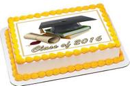 Graduation 2 Edible Birthday Cake Topper OR Cupcake Topper, Decor