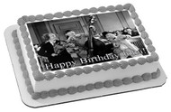 The Three Stooges 2 Edible Birthday Cake Topper OR Cupcake Topper, Decor