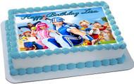 Lazy Town Edible Birthday Cake Topper OR Cupcake Topper, Decor